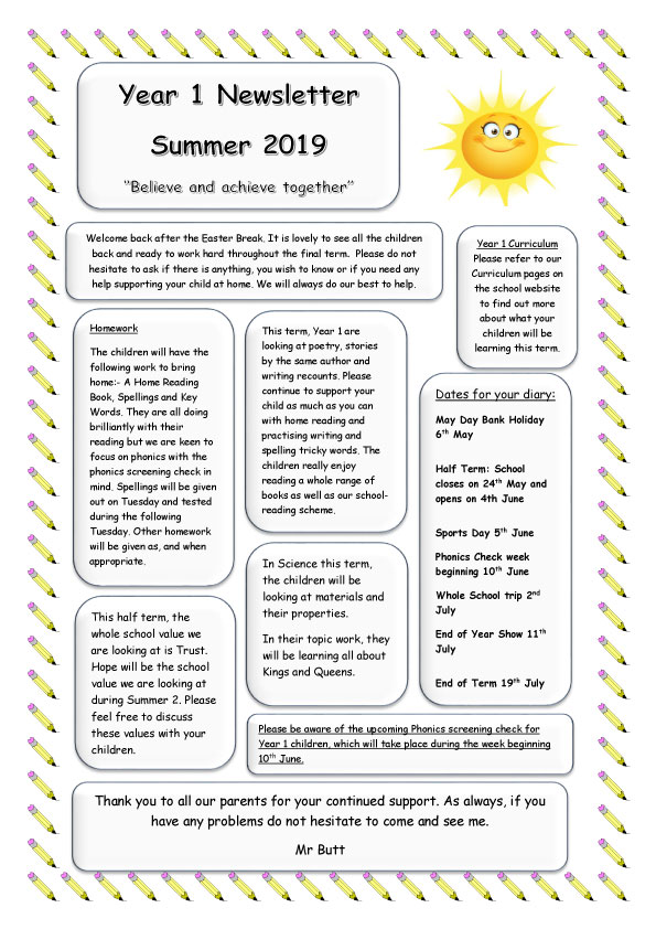 Year-1-Newsletter-SUMMER